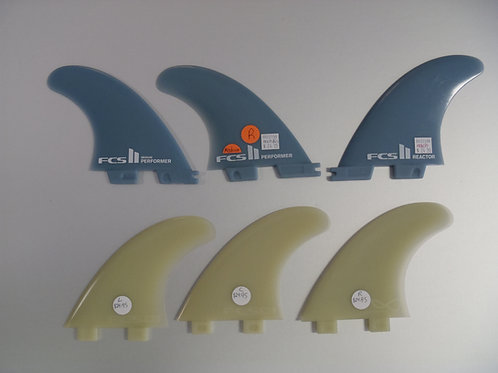 Glass Flex Replacement Fins FCS  and I &II  priced as singles