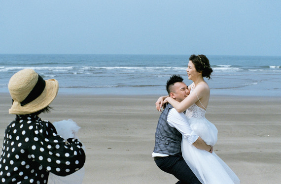 簡單自在情緒包覆著婚紗影像