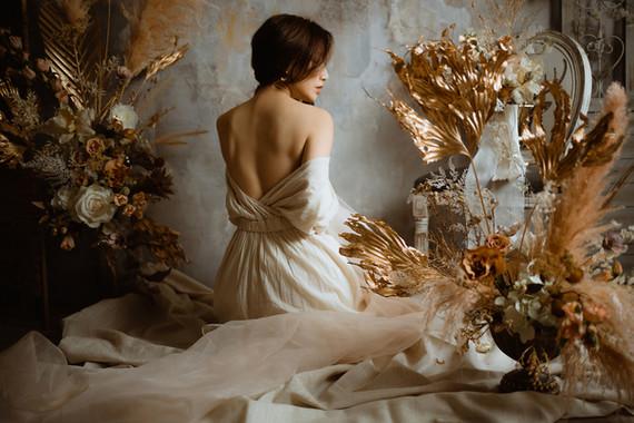 當女性美置身於極致花藝之中