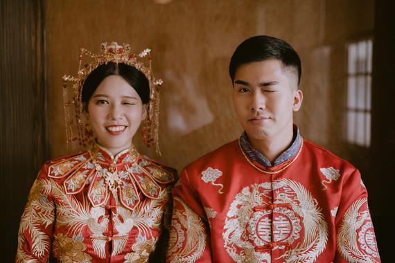 時尚又不失傳統禮俗服飾的婚禮儀式