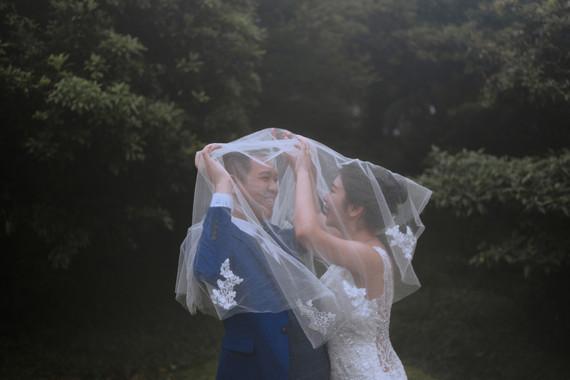 沈溺於只有我們兩人的可愛婚紗
