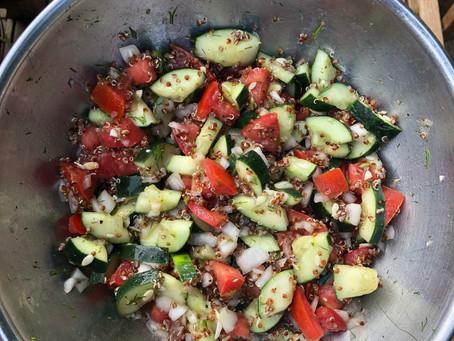Quinoa Cucumber Salad curtesy of Amanda Myers @risingsummityoga