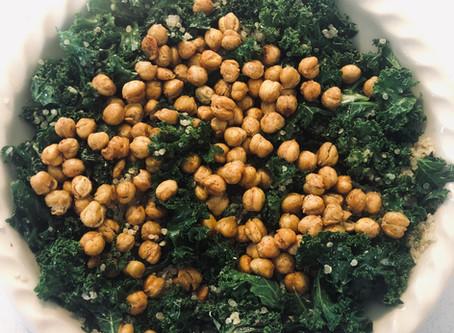 Kale and Crispy Chickpea Salad by Amanda Myers