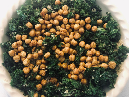 Kale and Crispy Chickpea Salad by Amanda Myers