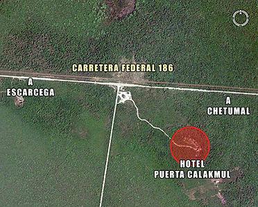 Ubicación Hotel Puerta Calakmul
