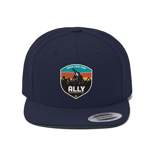 Reach Your Peak Flat Bill Hat