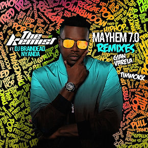 digital cover for the kemist mayhem 7.0 remixes by gian varela and timmokk feat dj braindead and nyanda