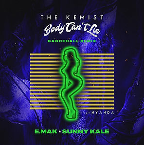 digital cover for body can't lie e.mak & sunny kale remix by the kemist feat nyanda