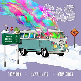 digital cover for Gas by The Wixard & Chavez illmatiq feat Brena London