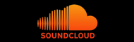 Soundcloud logo with blackbackground