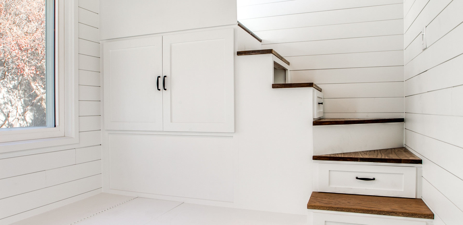 Second storage staircase leads to the second loft