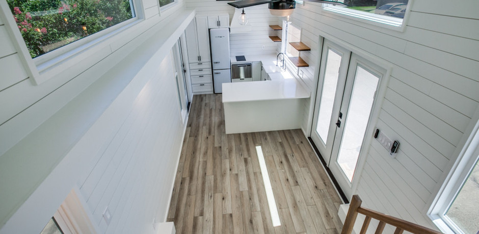 View from split level loft