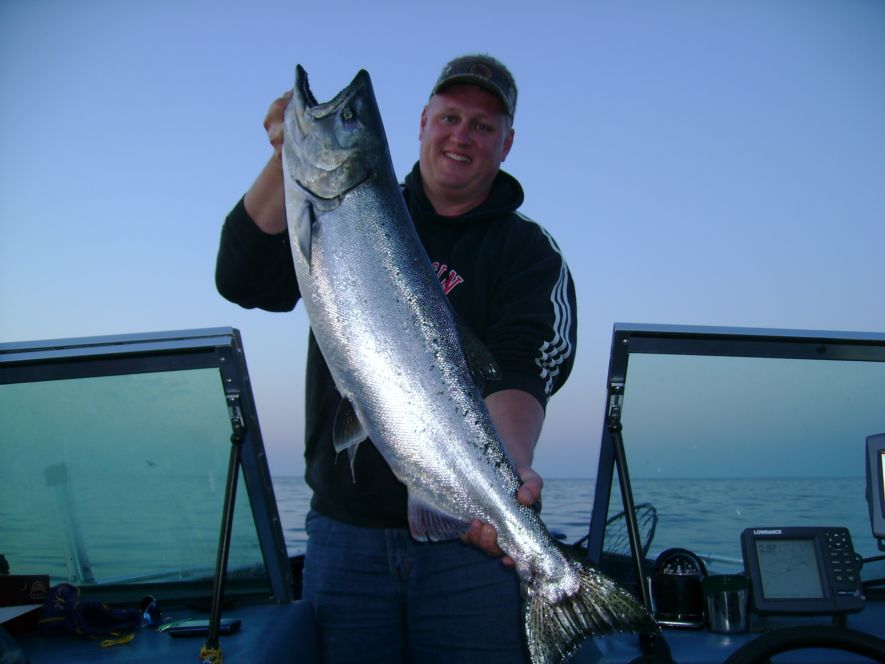 Huge Salmon-Lake Michigan Sheboygan