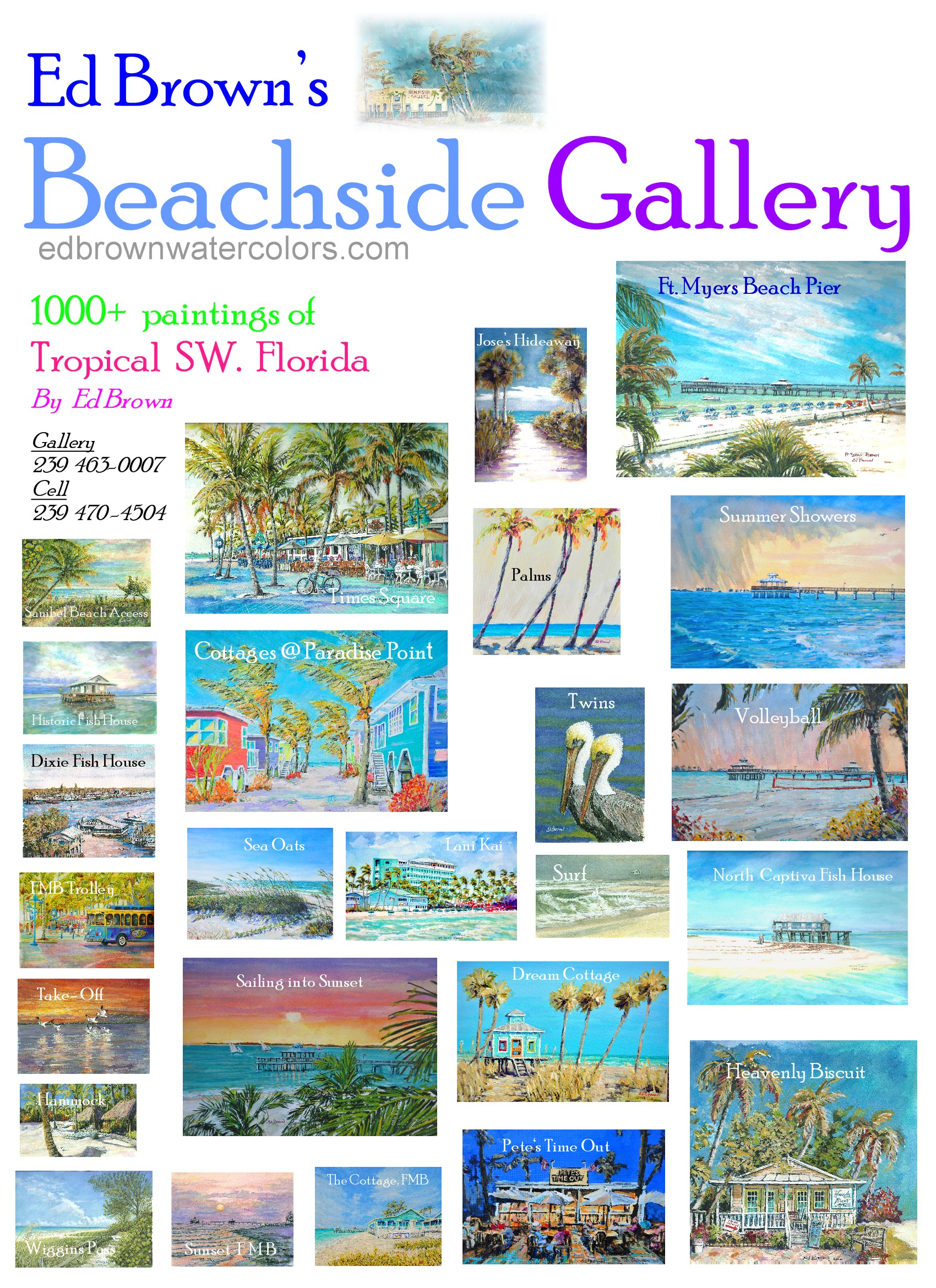 Beachside Gallery in Ft Myers Beach