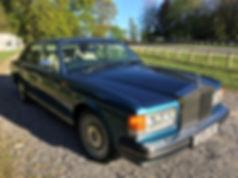 Rolls Royce Silver Spirit Blue Wedding C