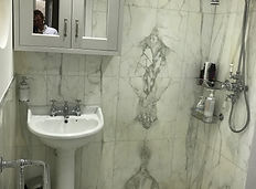 Luxury italian marble shower room