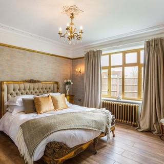 Goldie Bedroom Gold Leaf King Size Bed.j
