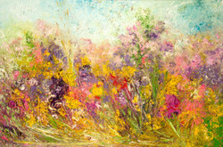 Blossom in the wind 91.5 x 61cm