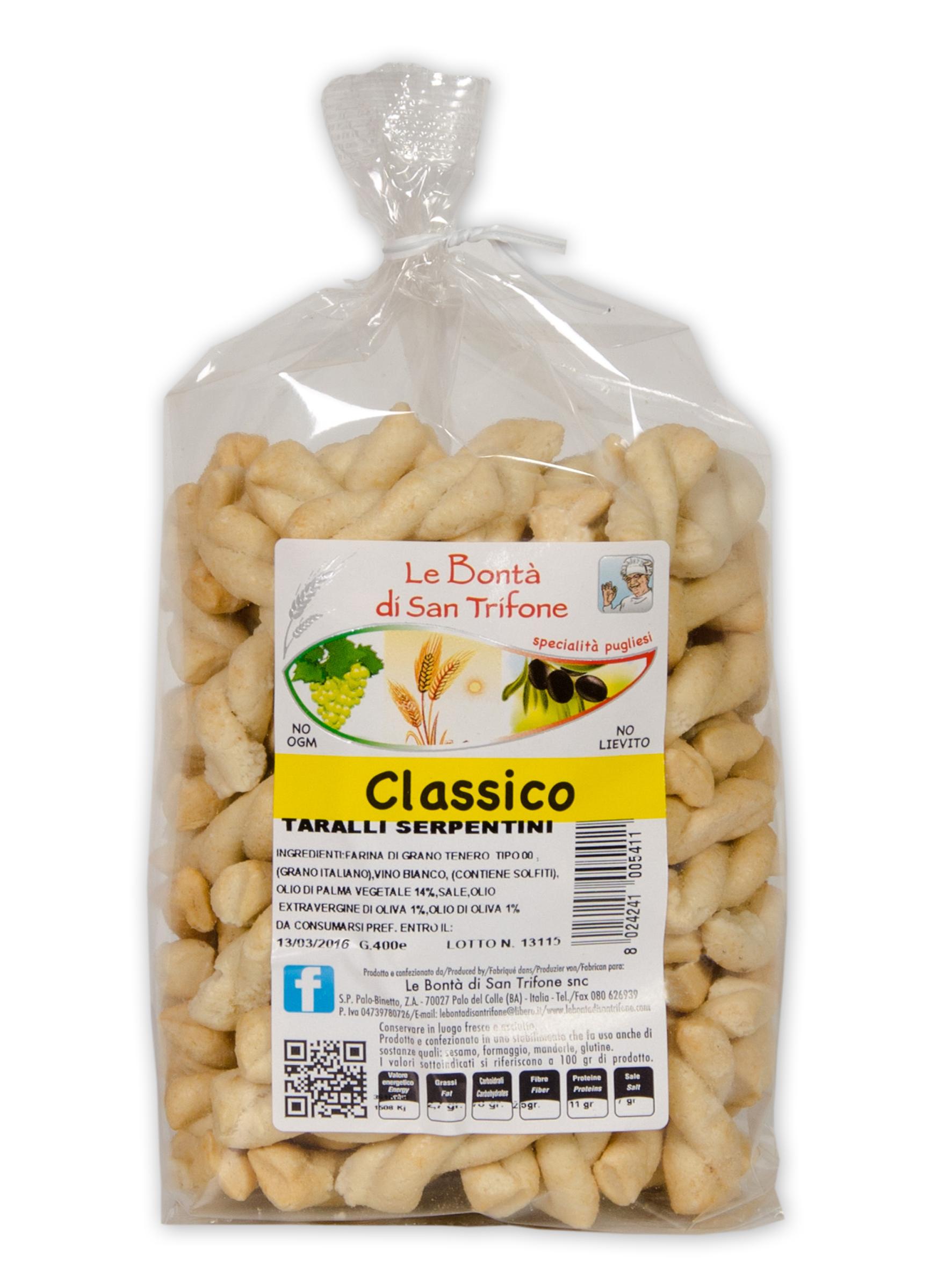 Taralli Serpentini (gusto classico)