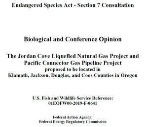 USFWS Jordan Cove Biological Opinion