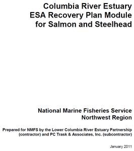 NOAA Estuary Recovery Plan Module