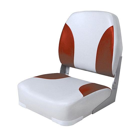 Кресло Deluxe мягкое складное серо-красное, 75102GR