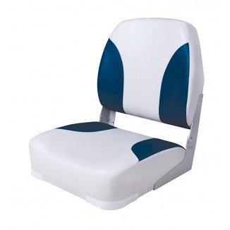 Кресло Deluxe мягкое складное серо-синее, 75102GB