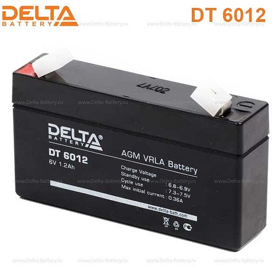Аккумуляторная батарея Delta DT 6012 (6V / 1.2Ah)