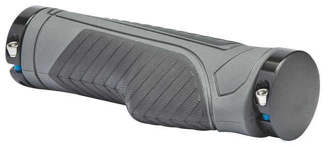 Грипсы XH-G120BL 130 мм с кольцами алюминиевыми, чёрно-серые
