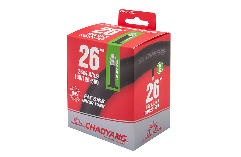 "Велокамера STELS/CHAO YANG 26"" x 4.0"" автовентиль"