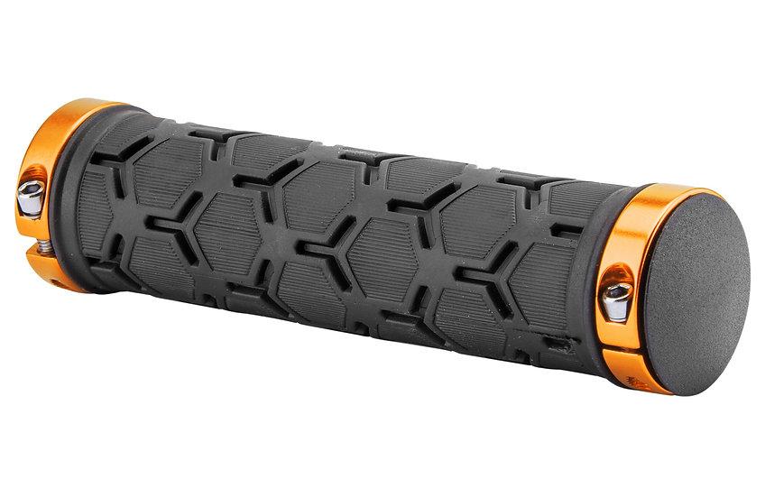 Грипсы XH-G181BL 130 мм чёрные, золотистые кольца