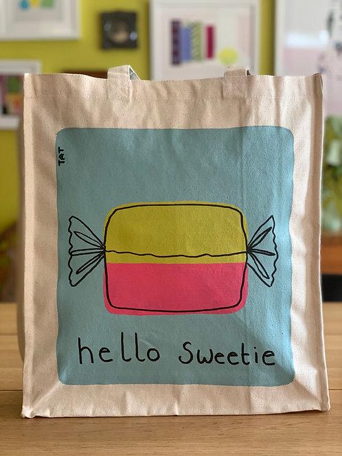 Hello Sweetie Canvas Bag