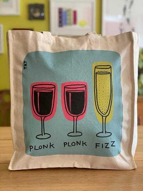 Plonk Plonk Fizz Canvas Bag