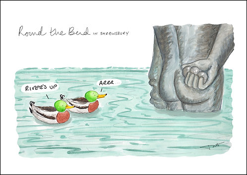 'River's Up' Round the Bend Print
