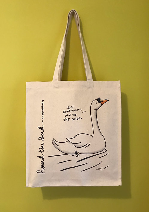 'Swanning Off' Canvas Bag