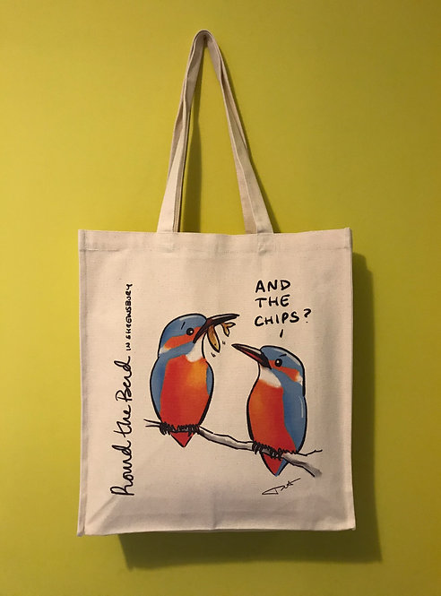 'Kingfisher Chips' Canvas Bag