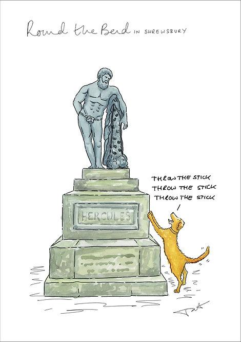 'Hercules' Stick' Round the Bend Print