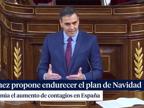 """SÁNCHEZ ENDURECERÁ EL PLAN DE NAVIDAD SI CONTINÚA EL """"SUPUESTO"""" REPUNTE DE CONTAGIOS"""