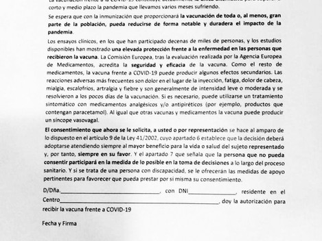 FORMULARIO VACUNA COVID-19 COMUNIDAD DE MADRID