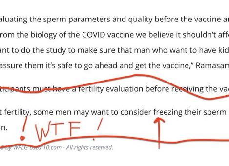 ESTERILIZACIÓN MASIVA: Investigadores aconsejan a los hombres CONGELAR su esperma antes de VACUNARSE