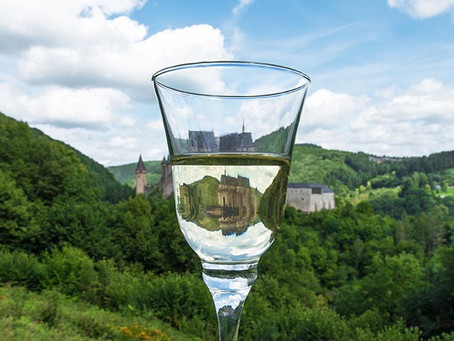 Wine Glass Views of Luxembourg's Vianden Castle