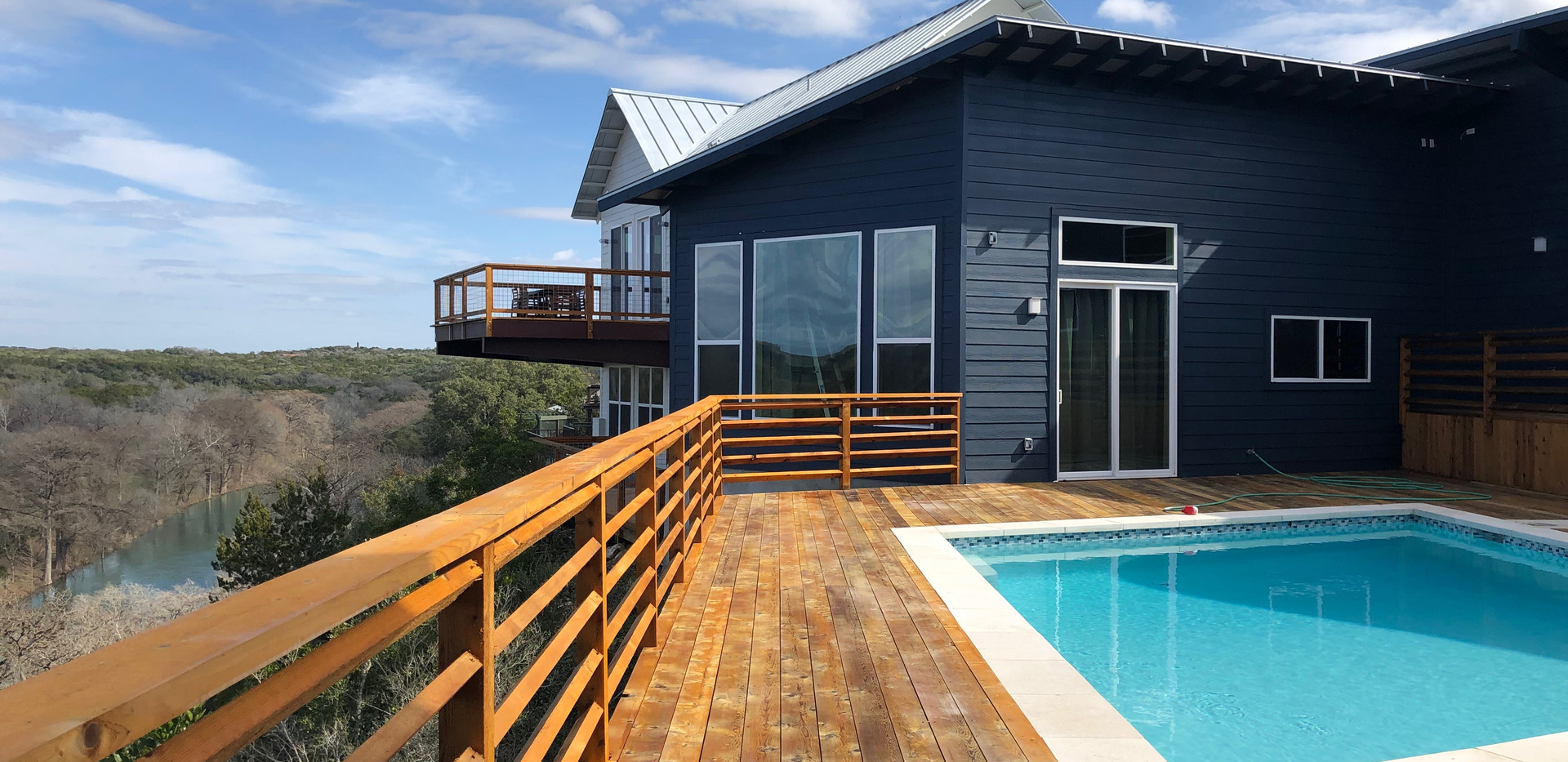 Deck overlooking Guadalupe River