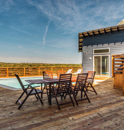 Deck overlooking Texas Hill Country