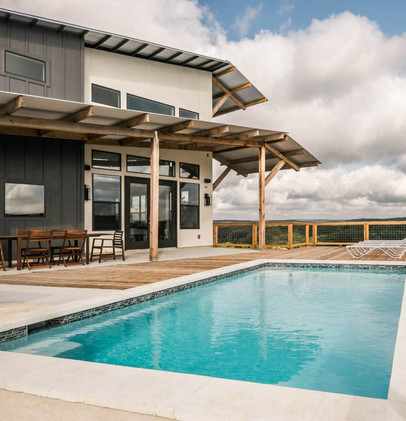 Pool with Sweeping Hill Country Views