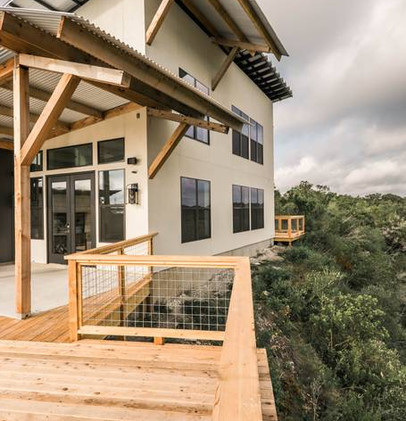Exterior overlooking Guadalupe River