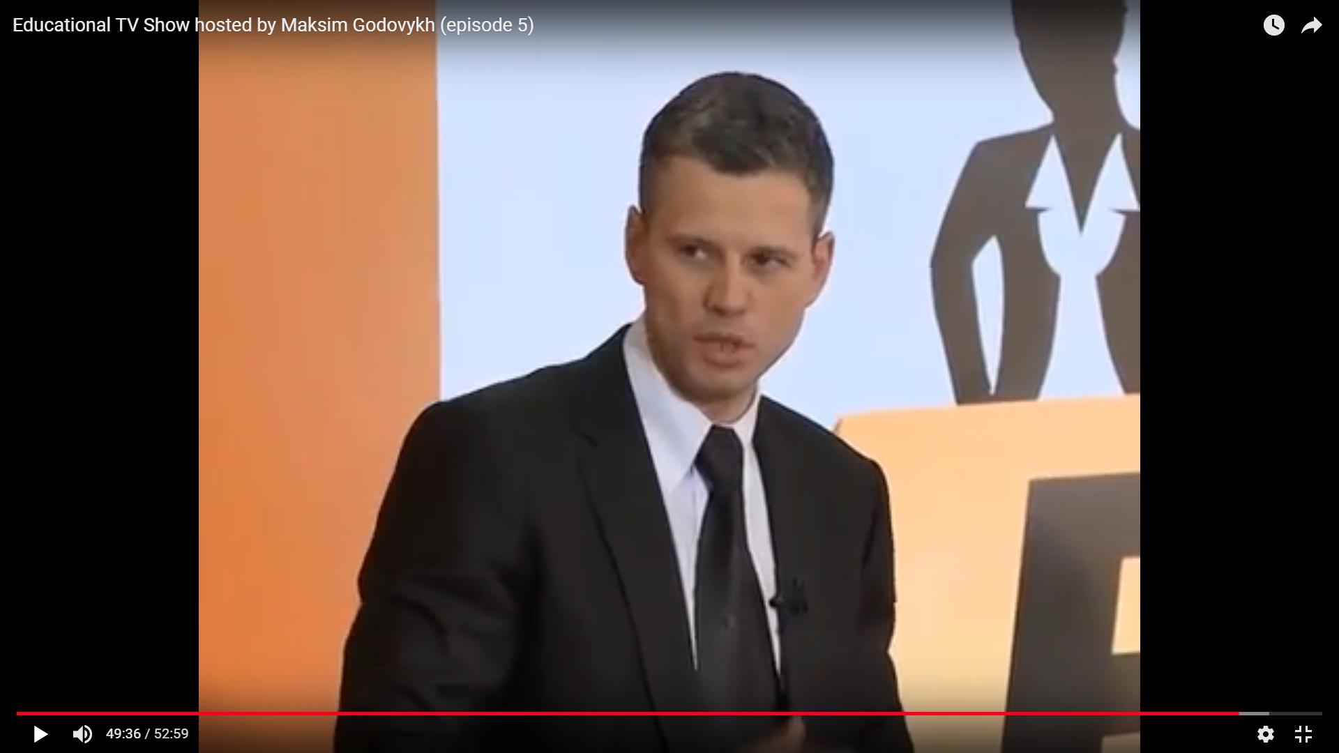 Maksim Godovykh TV Show