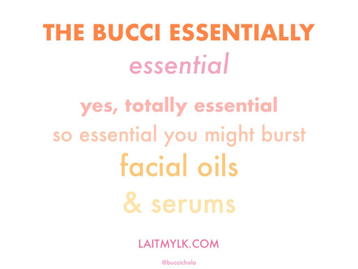 bucci's favourite facial oils - thank me later 🌟✨💥
