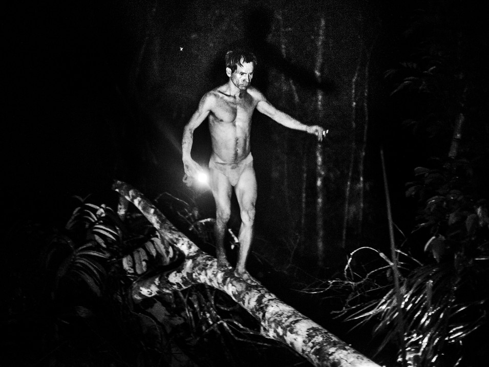 In October, 2018, Aladino walks through a tree during a night session of connecting to the spirits. The place is called the Bora Sacred Valley, in the Amazon region, a perfect place to be near his ancestors and recover strength to be a powerful shaman again.
