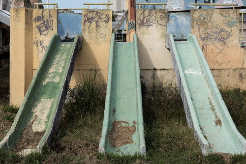 On July 29th, 2020 one of the leisure areas of the largest local park is abandoned in the city of Macaé, state of Rio de Janeiro, Brazil. The park is completely abandoned and symbolizes the city's decay after the fall in the oil market and cases of corruption involving local companies.