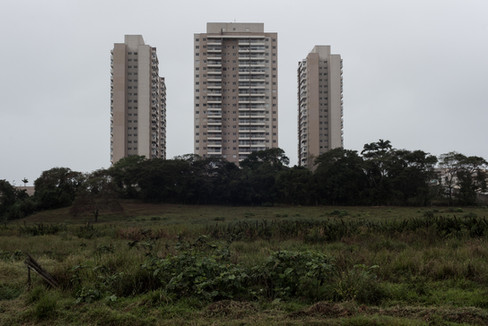 On July 30th, 2020 the view of a residential condominium of buildings in one of the new neighborhoods in the city of Macaé, state of Rio de Janeiro, Brazil. Disorganized growth and poor urban planning during the city's economic growth, today contrast with the abandonment and isolated areas in the serious crisis that is plaguing the region.